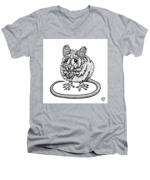 Meadow Jumping Mouse Men's V-Neck T-Shirt