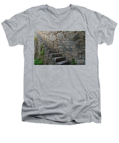 Medieval Wall Staircase Men's V-Neck T-Shirt