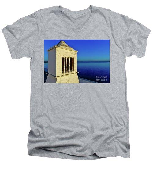 Mediterranean Chimney In Algarve Men's V-Neck T-Shirt
