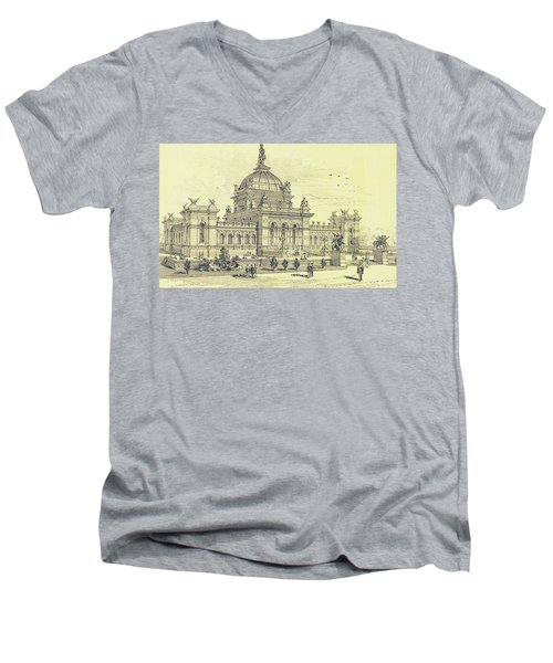 Memorial Hall, Centennial Men's V-Neck T-Shirt