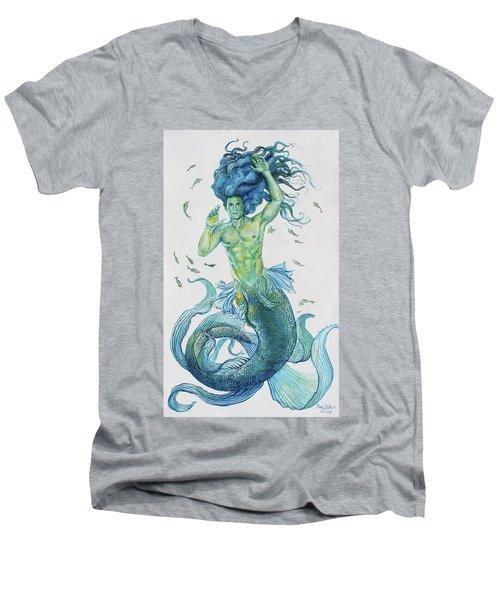 Merman Clyde Men's V-Neck T-Shirt