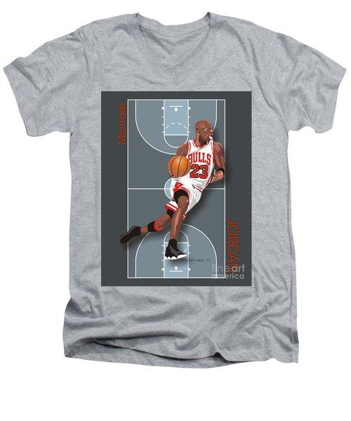 Michael Jordan, No. 23 Men's V-Neck T-Shirt