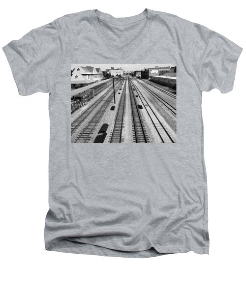 Middle Of The Tracks Men's V-Neck T-Shirt