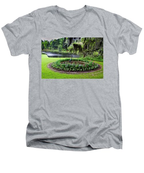 Middleton Gardens Mill Pond Men's V-Neck T-Shirt