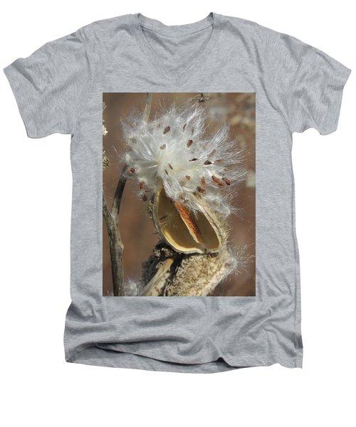 Milkweed Burst Men's V-Neck T-Shirt