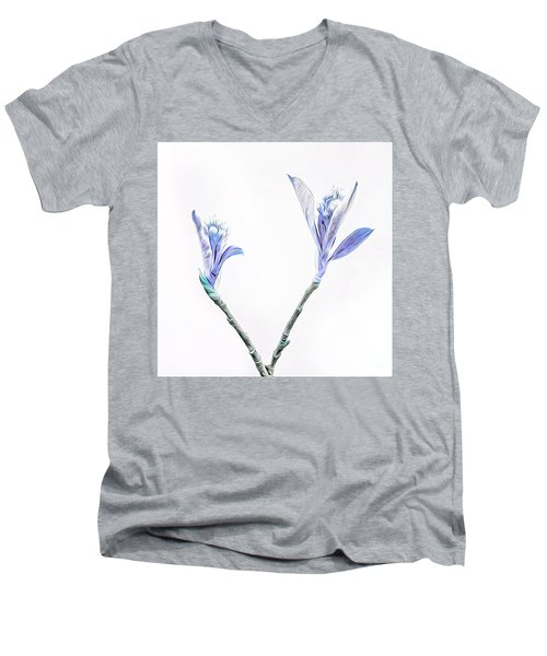 Minimalist Chokeberry Buds Men's V-Neck T-Shirt