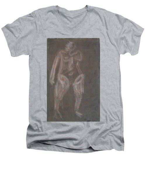 Model Named Helene Four Men's V-Neck T-Shirt