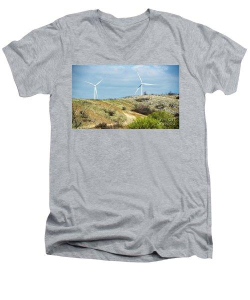 Modern Windmill Men's V-Neck T-Shirt