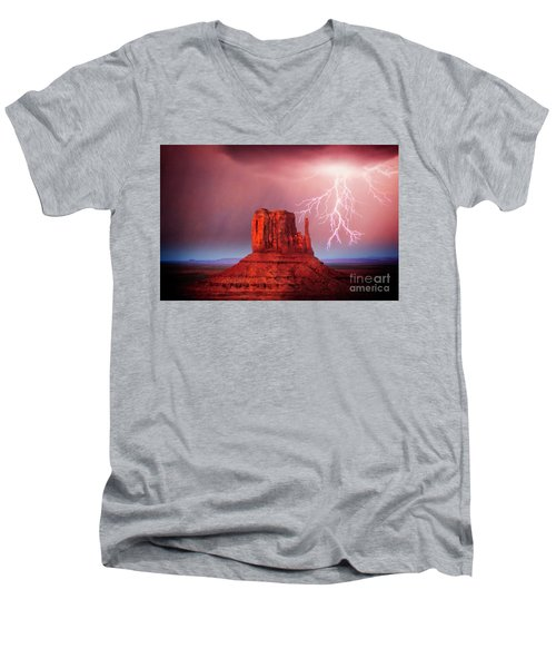 Monsoon Storm Men's V-Neck T-Shirt