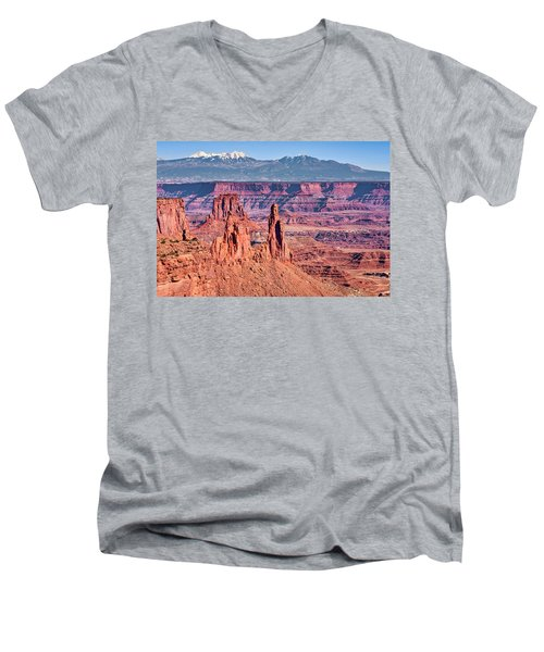 Men's V-Neck T-Shirt featuring the photograph Monster Tower by Andy Crawford