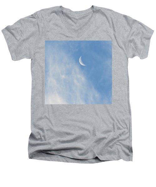Moon In Libra - Crescent Farewell Men's V-Neck T-Shirt