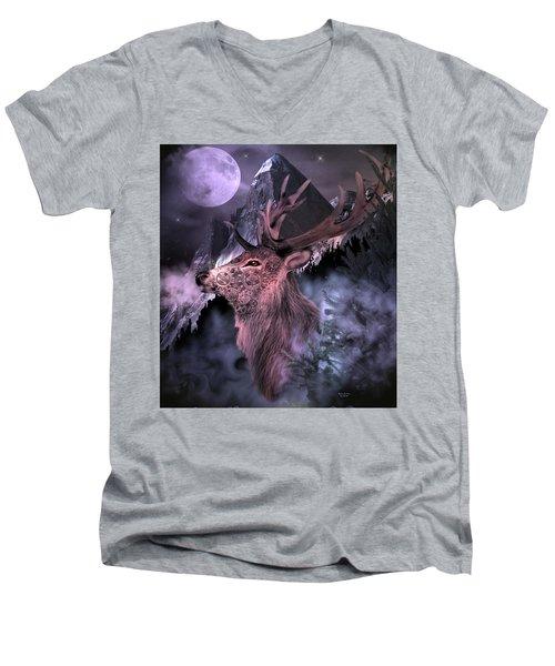 Moonlight Buck Men's V-Neck T-Shirt