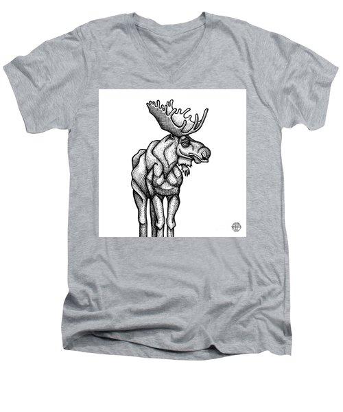 Moose Men's V-Neck T-Shirt