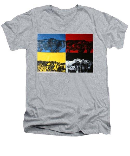 Mooving Out Of Our Land Men's V-Neck T-Shirt