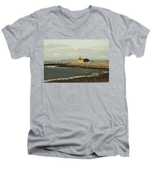 Morecambe. The Stone Jetty. Men's V-Neck T-Shirt