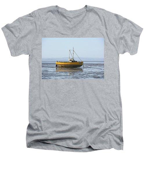 Morecambe. Yellow Fishing Boat. Men's V-Neck T-Shirt