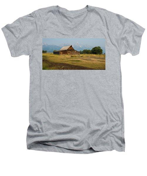 Mormon Barn Men's V-Neck T-Shirt