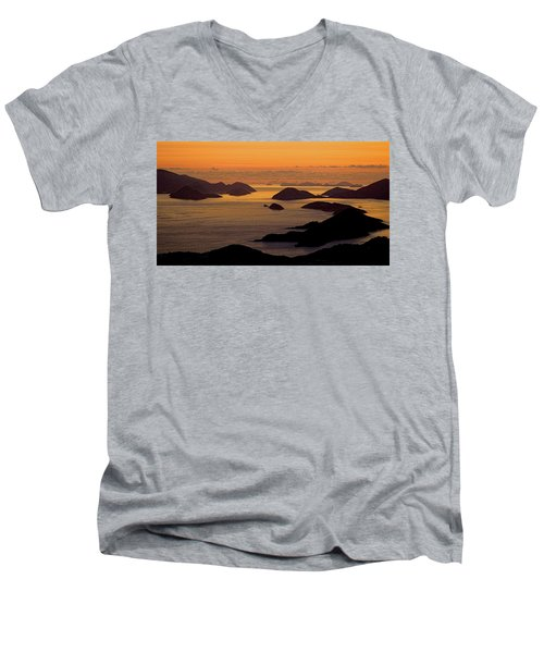Morning Islands Men's V-Neck T-Shirt