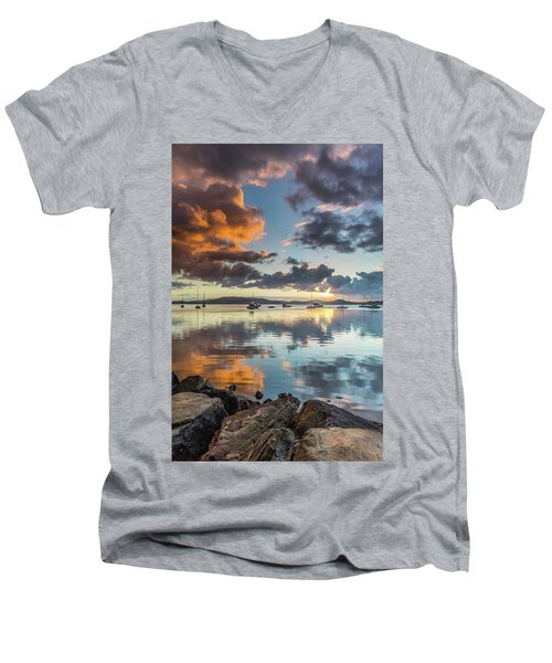 Morning Reflections Waterscape Men's V-Neck T-Shirt