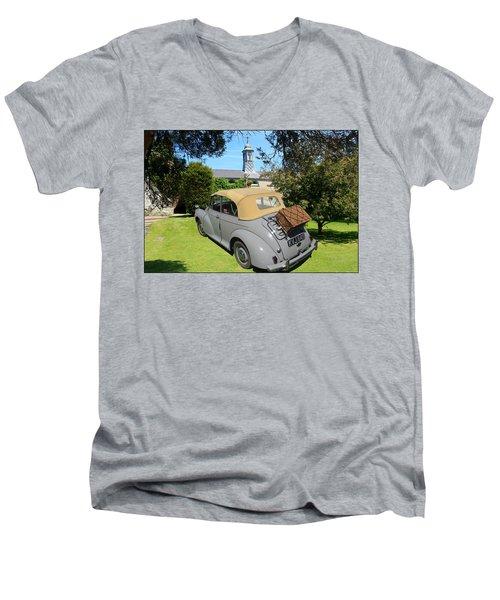 Morris Minor Grey Convertible Men's V-Neck T-Shirt