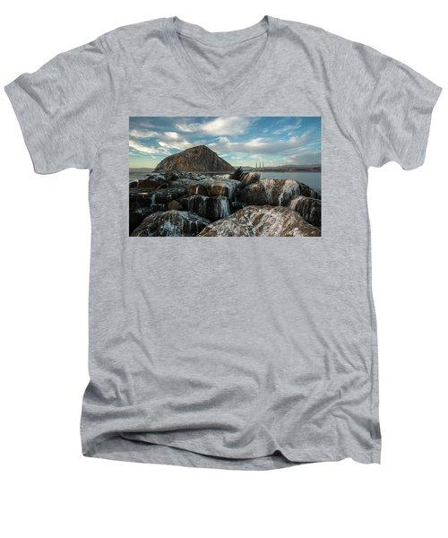 Morro Rock Breakwater Men's V-Neck T-Shirt