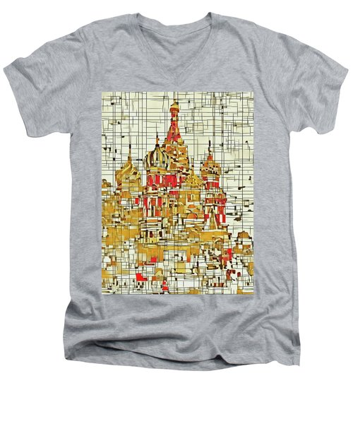 Moscow Men's V-Neck T-Shirt