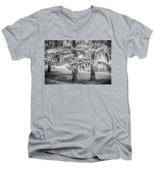 Moss Laden Trees 4132 Men's V-Neck T-Shirt