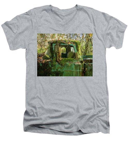 Mossy Truck Men's V-Neck T-Shirt
