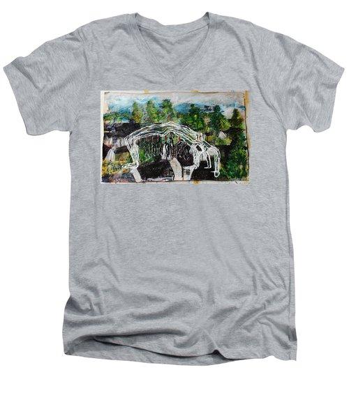 Mother Money Begins To Collapse Men's V-Neck T-Shirt