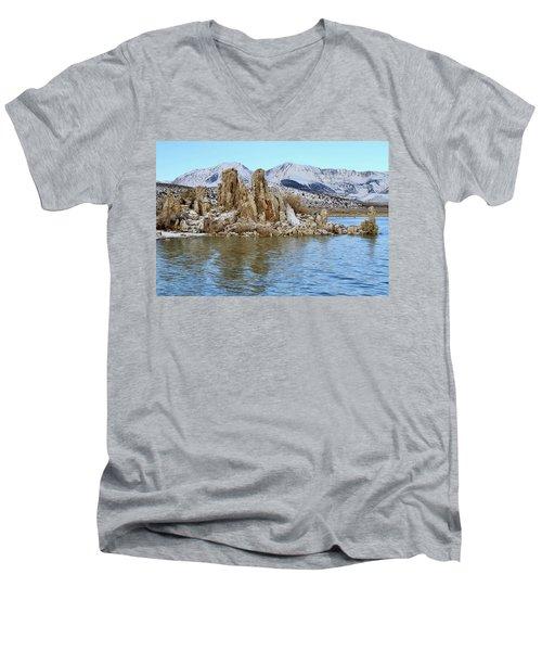 Mount Dana At Dawn  Mono Lake Men's V-Neck T-Shirt
