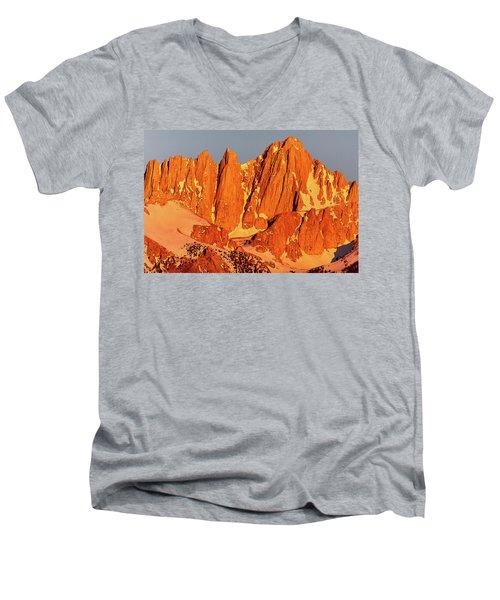 Mount Whitney Sunrise Men's V-Neck T-Shirt