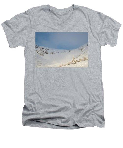 Mountain Light, Tuckerman Ravine Men's V-Neck T-Shirt