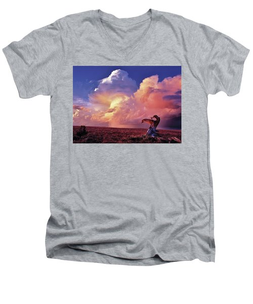 Mountain Thunder Shower Men's V-Neck T-Shirt
