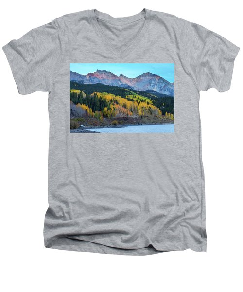 Men's V-Neck T-Shirt featuring the photograph Mountain Trout Lake Wonder by James BO Insogna