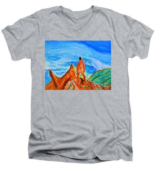 Mountain Vista Men's V-Neck T-Shirt