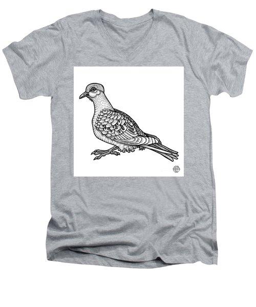 Mourning Dove Men's V-Neck T-Shirt