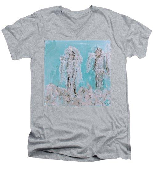 Mr And Mrs Angels Men's V-Neck T-Shirt