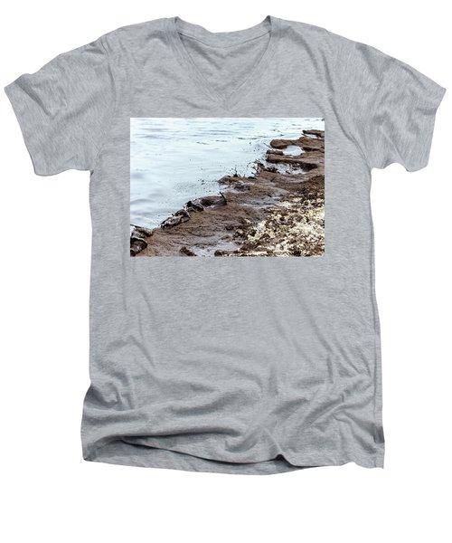 Muddy Sea Shore Men's V-Neck T-Shirt