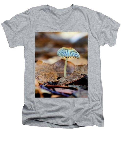 Mushroom Under The Oak Tree Men's V-Neck T-Shirt