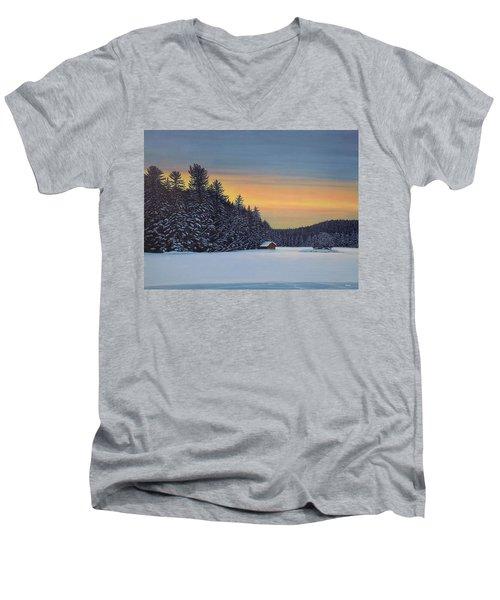 Muskoka Winter Men's V-Neck T-Shirt