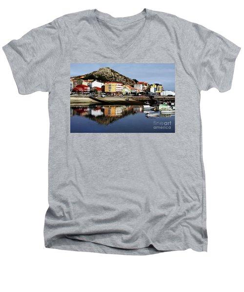 Muxia Camino Reflections Men's V-Neck T-Shirt