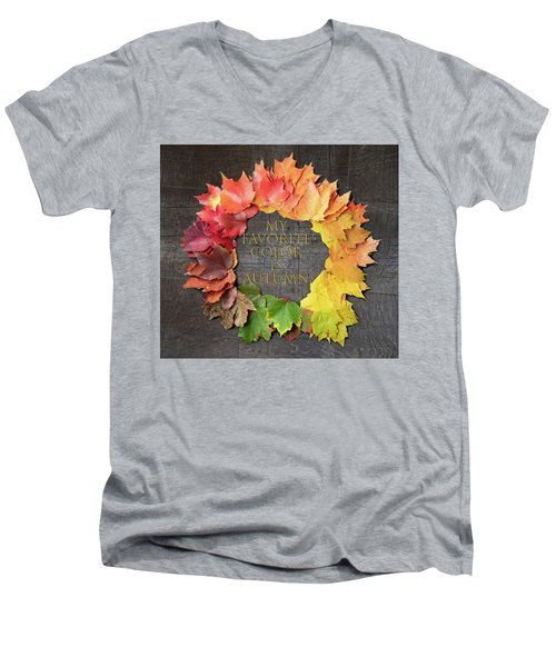 My Favorite Color Is Autumn Men's V-Neck T-Shirt
