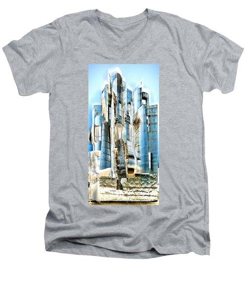 My Fortress Of Dancing Steel Men's V-Neck T-Shirt