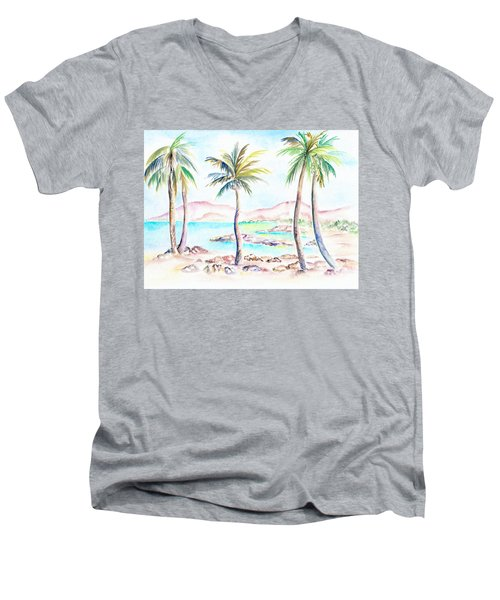 My Island Men's V-Neck T-Shirt
