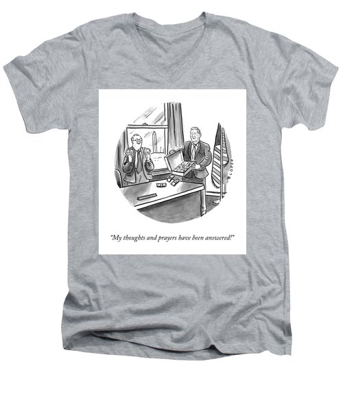 My Thoughts And Prayers Men's V-Neck T-Shirt