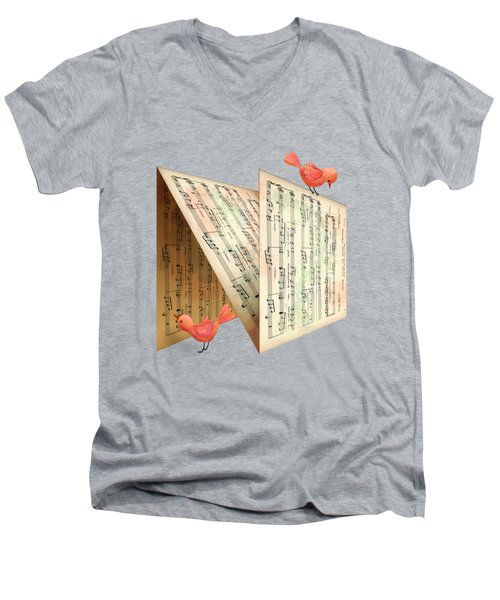 N Is For Notes Men's V-Neck T-Shirt