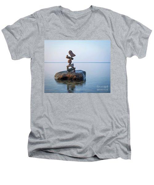 Zen Stack #9 Men's V-Neck T-Shirt