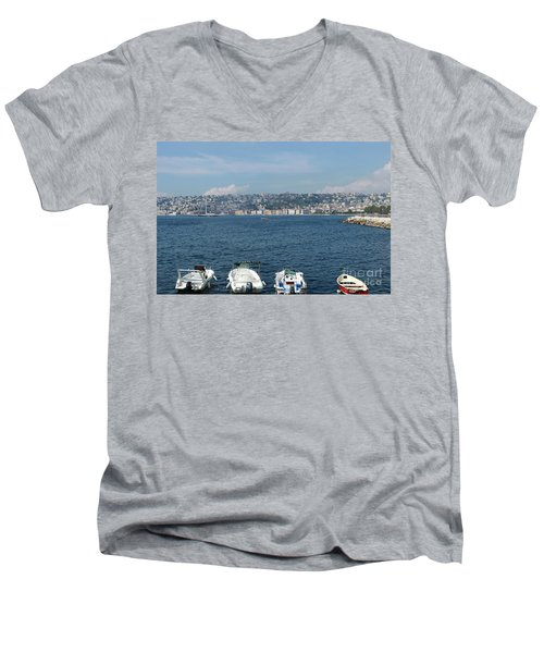Naples Port Men's V-Neck T-Shirt