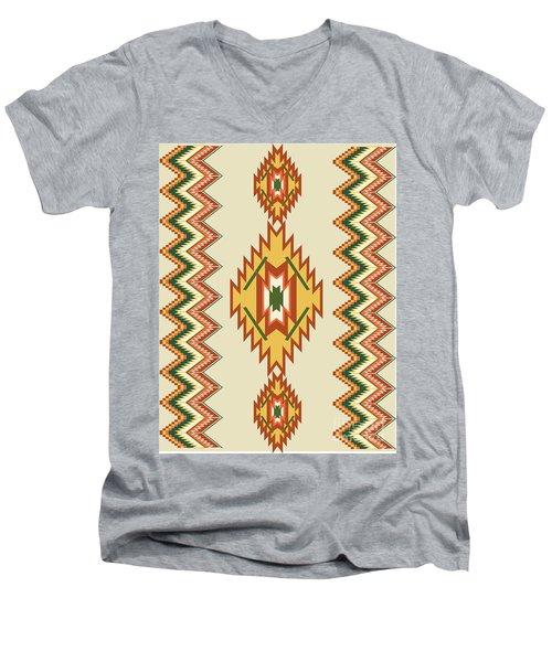 Native American Rug Men's V-Neck T-Shirt