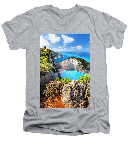 Navagio Bay Men's V-Neck T-Shirt
